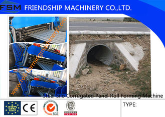 Automatic Roll Forming Machine Galvanized Steel Silo Culvert Pipe Making 4m/min - 8m/min