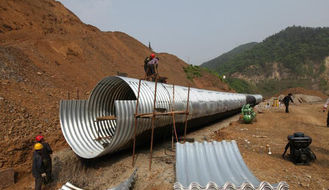 Panel CE Culvert Pipe Making Machine , Wall Sheet Steel Silo Corrugated Roll Forming Machine