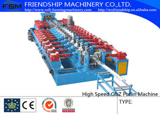 100m/min High Speed C Z Purlin Roll Forming Machine Gearbox Driven Running Quick and Stable