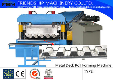 15m/min Metal Deck Roll Forming Enquipment Color Steel With PLC System