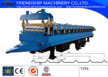 45# Steel Ibr Sheet Roll Forming Machine With Hydraulic Cutting System
