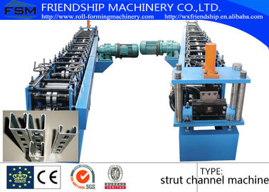 China Solar Energy Rack Roll Forming Machine With Non Stop Punching System 41 x 21 / 41 x 41 supplier