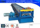 China 1.2-2.5mm Thickness GI Metal Deck Roll Forming Machine With 15kw Motor company