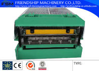 China Steel Automatical Roof Panel Roll Forming Machine with Panasonic PLC Control company