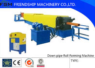 China Automatic  Square Type Down Pipe Roll Forming Machine ,With Downpipe Elbow Equipment factory