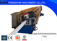 Aluminum Coil Downspout Pipe Roll Forming Machine With Decoiler