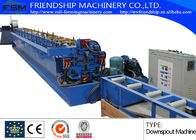 Aluminum / Cooper Round Down Pipe Roll Forming Machine , Thickness 0.4-0.8mm