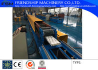 China Automatic PU Sandwich Rolling Shutter Roll Forming Machine 0.5-0.8mm Thickness company