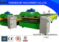 China Automatic Motor Driven Colored Steel Roll Forming Machinery With Film Coating company
