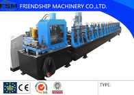 China Photovoltaic Support Racking Roll Forming Machine With Gearbox Driven , Low Noise company