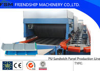 China Discontinuous PU Sandwich Panel Machine Double Rubber Tracker company