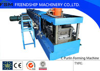 1.2mm-3mm Q195-235 Blue C Z Purlin Roll Forming Machine With 17 Forming Roller