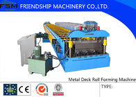 Best PLC Control System Metal Deck Roll Forming Machine With Hydraulic Station