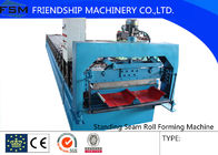 China 16 Steps Concealed Standing Seam Roll Forming Machine , Concealed , 3 Phase With Blade Cr12 company