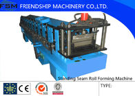 China Galvanized Steel Standing Seam Roll Forming Machine With 45# Roller company