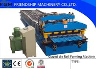 China PLC Control 18 Forming stations,Speed 5m/min Glazed Tile Roll Forming Machine With 0.3mm - 0.8mm company