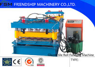 China Speed 5m/min Roof Panel Glazed Tile Roll Forming Machine With 18 Forming Stations company