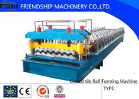 China New Style High Speed Glazed Tile Roll Forming Machine Driven By Chain With 45# Forge Steel company