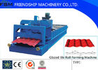 Step Glazed Tile Roll Forming Machine , Wall Panel Machinery For Construction