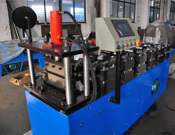China PLC Control Stud Roll Forming Machine With Hydraulic Cutting , Forming Speed 15m / min factory