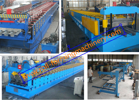 0.8mm - 1.2MM H Metal Deck Roll Forming Machine With 28 Stations