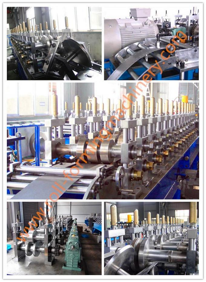 1.0-2.0mm Thickness 4 - 6m/min Speed Shelf Rack Roll Former Machine with 15 Forming Station