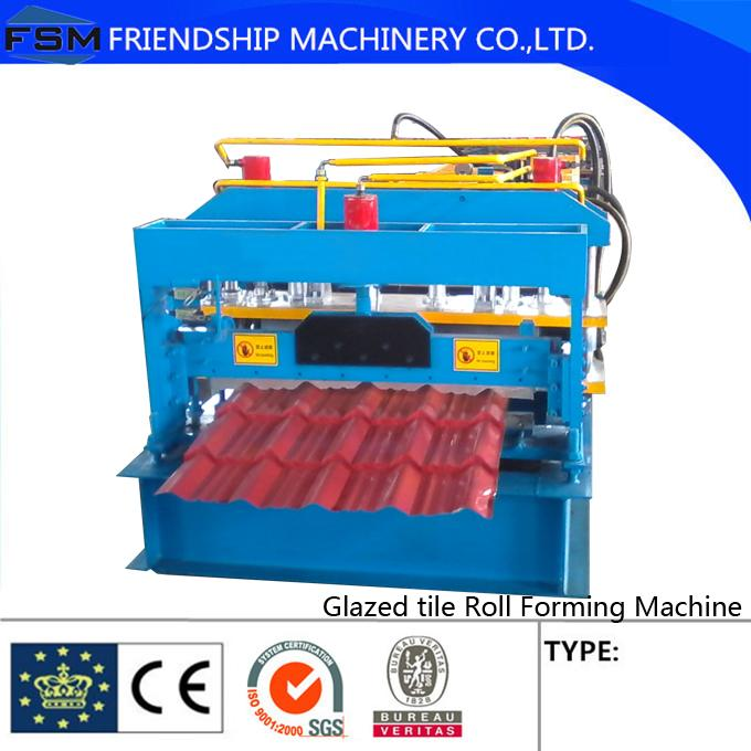 Chain Drive Hydraulic Cutting Glazed Tile Roll Forming Machine Steel/Aluminum