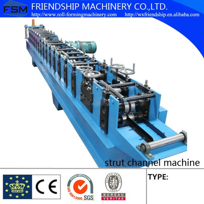 Solar Energy Rack Roll Forming Machine With Non Stop Punching System 41 x 21 / 41 x 41