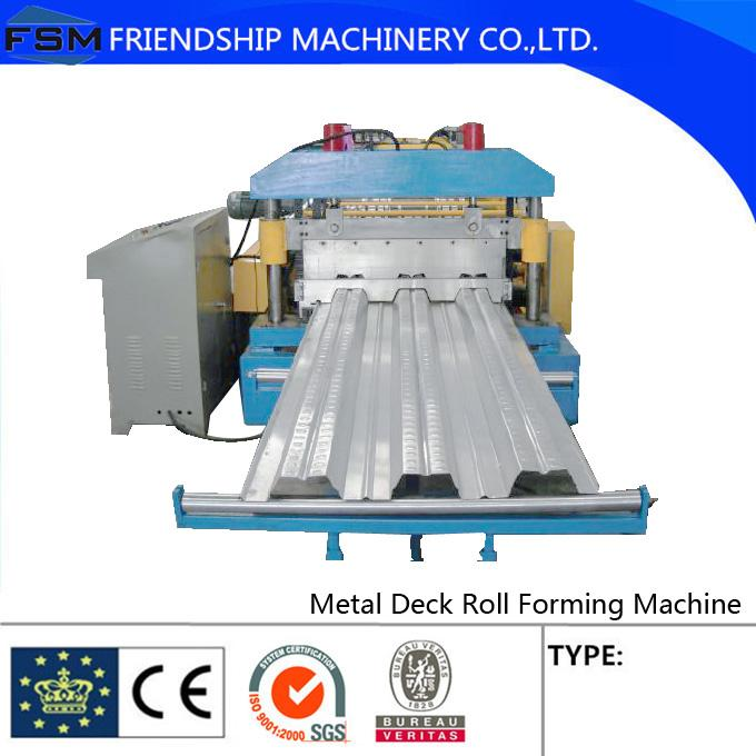 18kw 10m/min 1.5mm GI Metal Deck Roll Forming Machine Use Galvanized Steel Sheet With PLC Control Systerm