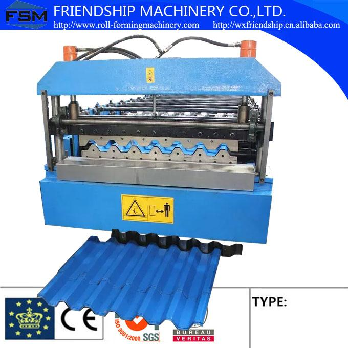 0.4-0.8mm Thickness Color Aluminum Trapezoidal Corrugated Sheet Roll Forming Machine IBR Type