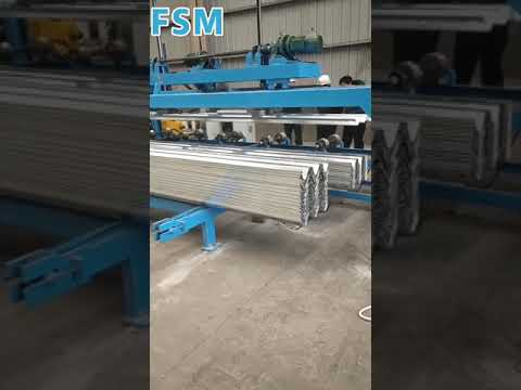 2 Waves Guardrail Roll Forming Equipment Machine With Gearbox Drive and Hydraulic Punching System
